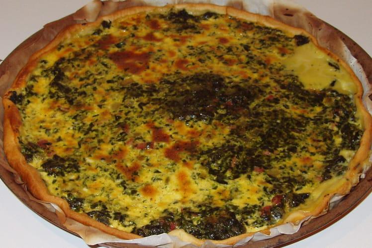 Tarte aux épinard et fromage fondu