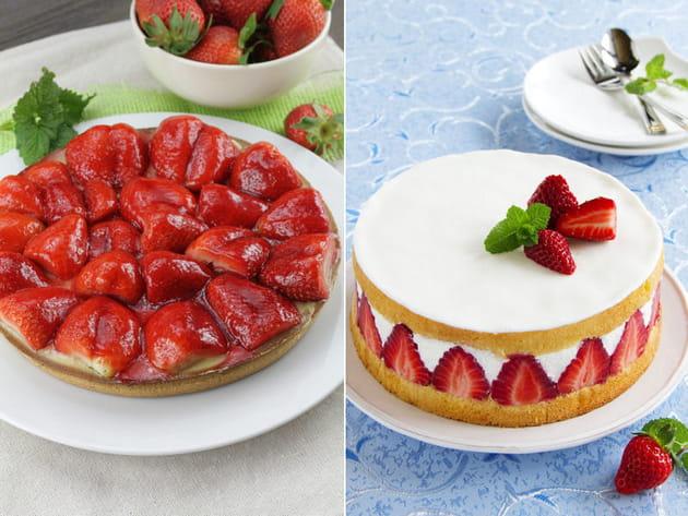 Tarte aux fraises ou fraisier ?