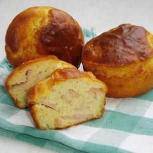 muffins au jambon et parmesan