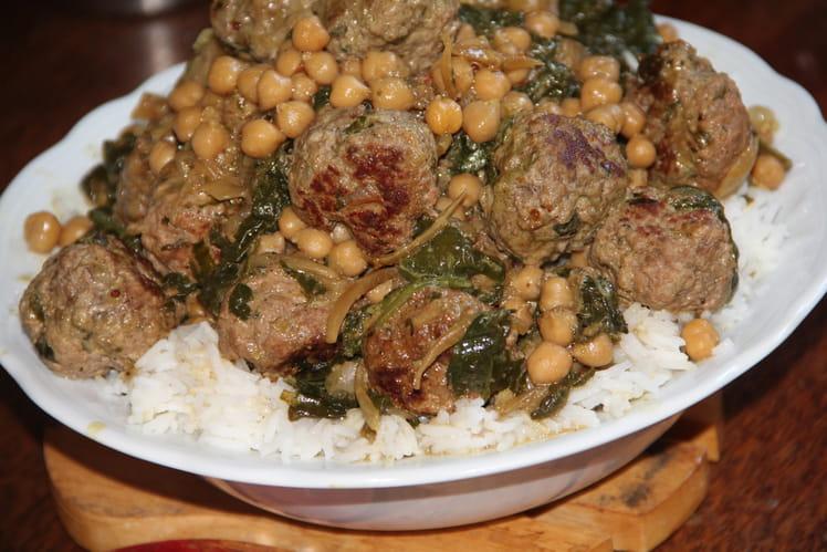 Curry de boulettes d'agneau à l'indienne