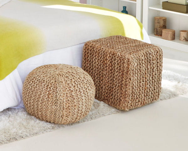 poufs naturels de la redoute. Black Bedroom Furniture Sets. Home Design Ideas