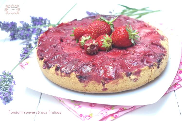 Fondant renversé aux fraises