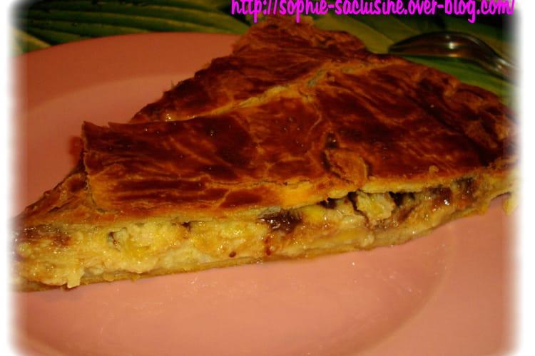 Galette bananes-coco-choco