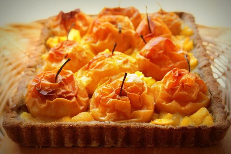 Tarte aux pommes au four (pâte sans gluten, ni oeuf, ni lait)