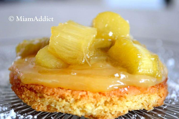 Tartelettes rhubarbe lemon curd
