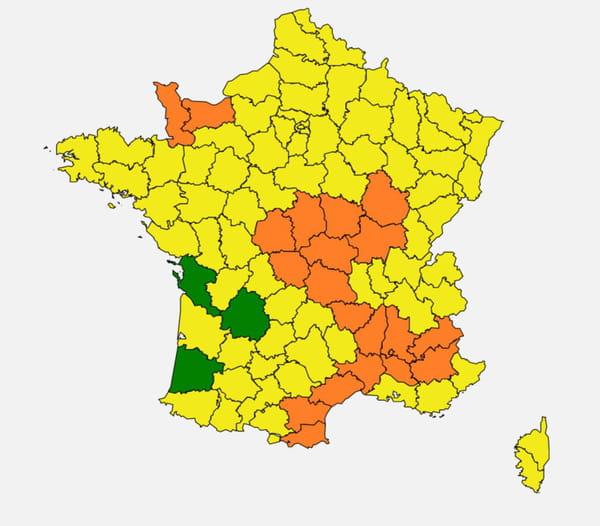 carte pollen france juin 2020