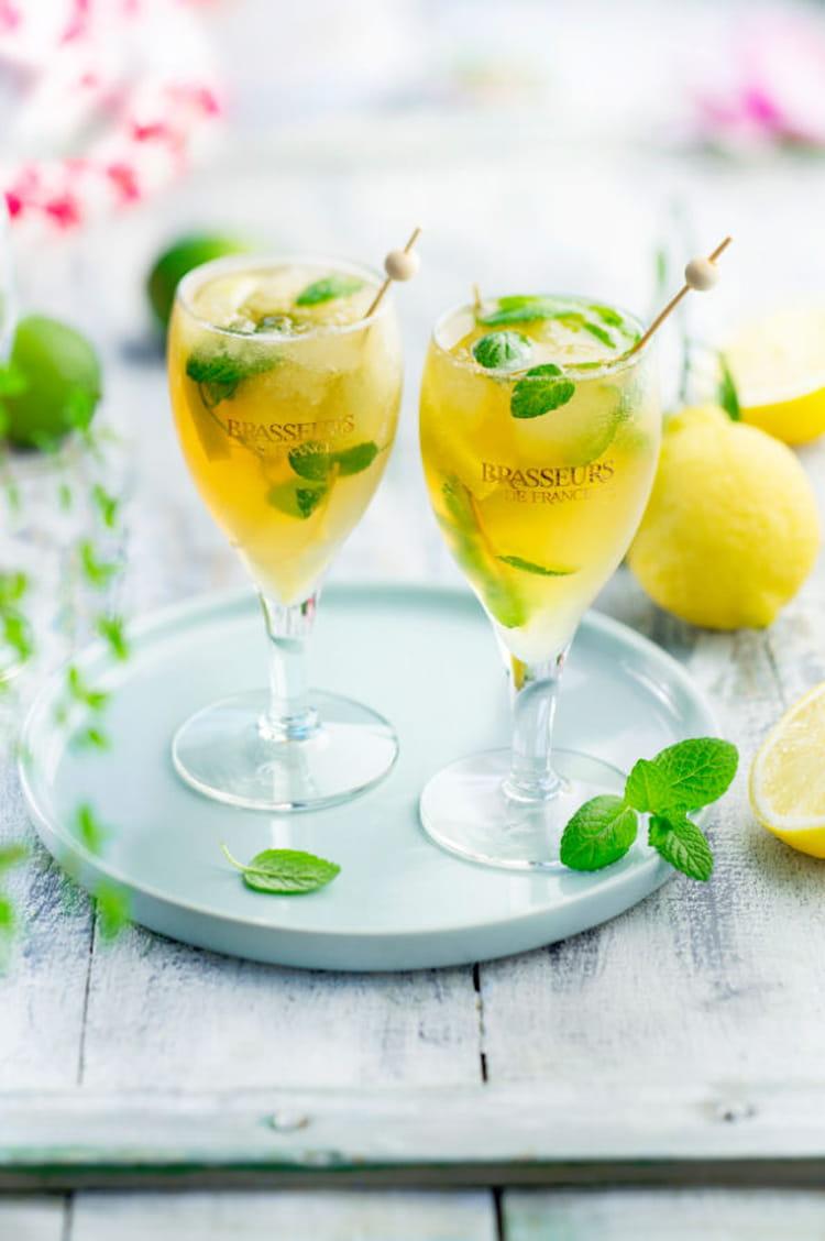 Recette de cocktail bi re blanche givr e la recette facile for Cocktail 3 brasseurs