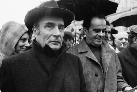 Avec Georges Marchais, manif contre la hausse des prix, Paris, 06/12/1973
