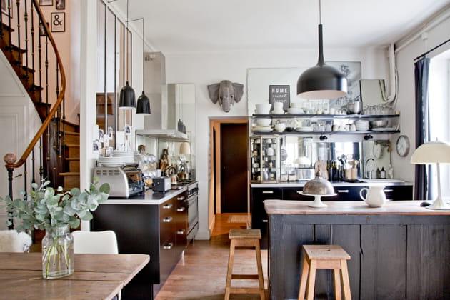 Une cuisine mi-Ikea mi-chinée