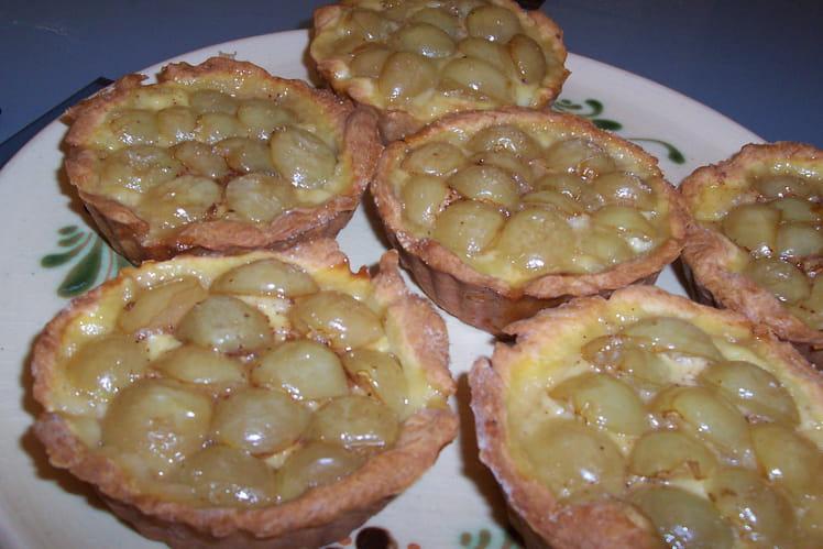 Tartelettes briochées aux raisins