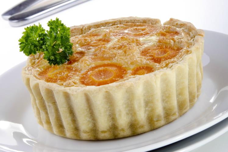Tarte aux carottes et fromage frais