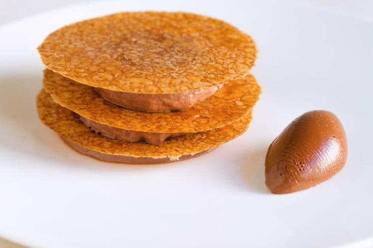 Mousse au chocolat Manjari, Tuile de Polenta, Crémeux Chocolat-poivre