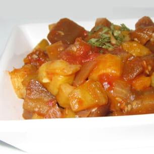 bhujia de courgettes et aubergines