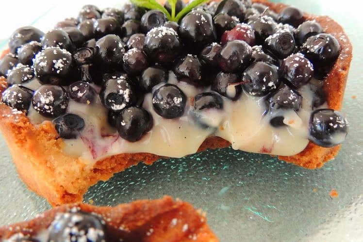 Tartelettes sablées aux myrtilles