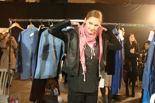 Fashion week prêt-à-porter automne-hiver 2011 : les coulisses du défilé Aganovich 11