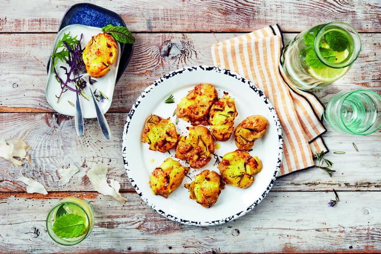 Pommes de terre primeurs de Noirmoutier tapées à l'ail