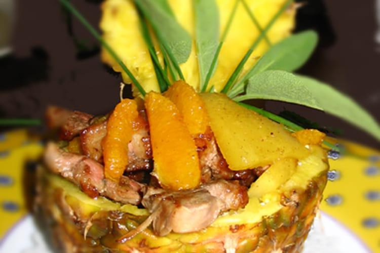 Magret de canard aux fruits et aux épices