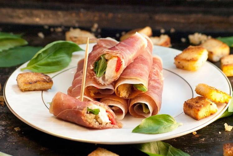 Roulés de Parme aux saveurs d'Italie