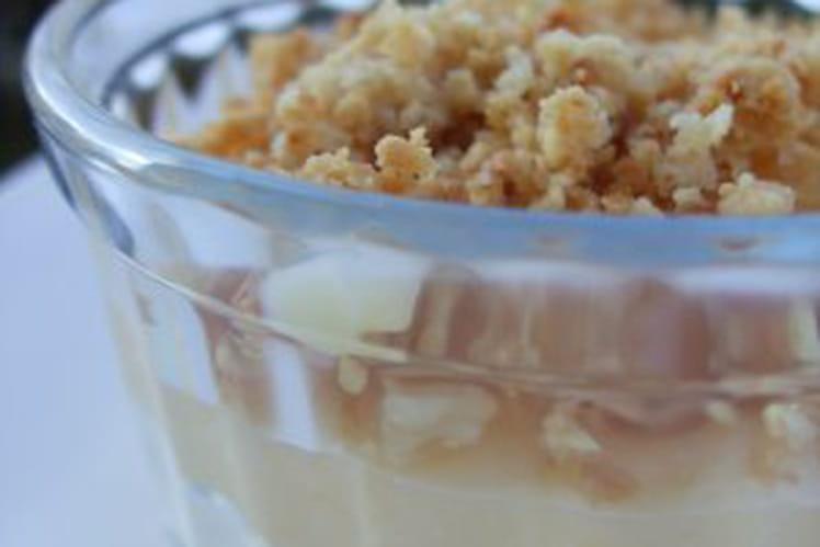 Crème mascarpone lemon curd et crumble