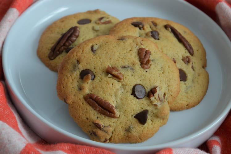 Cookies au whisky, pépites de chocolat et noix de pécan