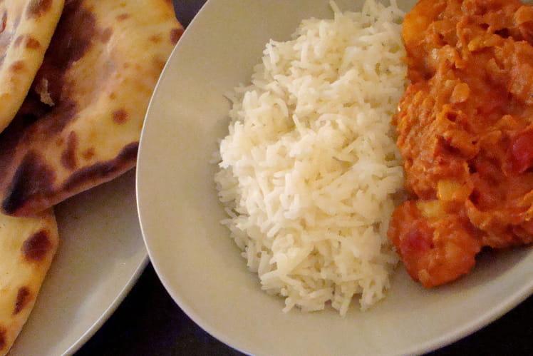 Crevettes au Curry Madras