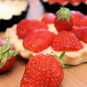 tartelette aux fraises et au basilic