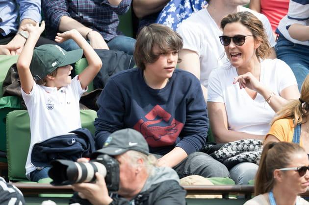 Sandrine Quétier et ses enfants