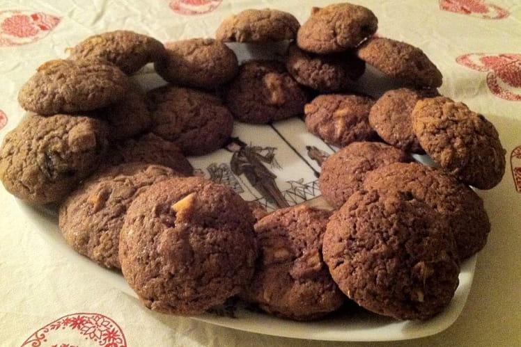 Cookies cacao et fruits confits