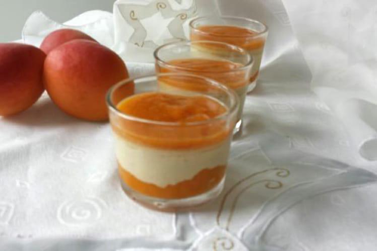 Panacotta abricots et pistache