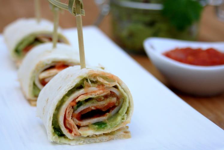 Bouchées apéritives mexicaines au guacamole