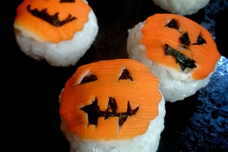 Temari sushi Halloween