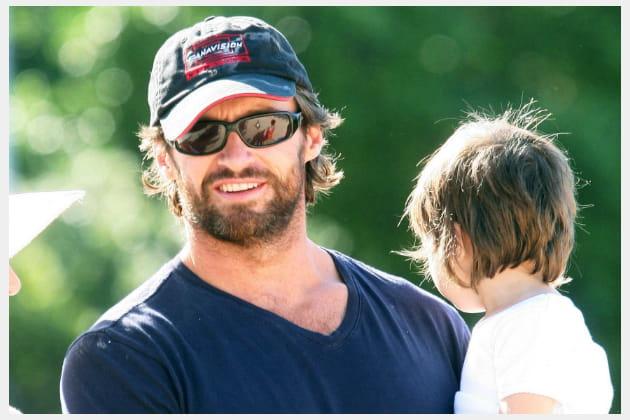 Hugh Jackman, super papa