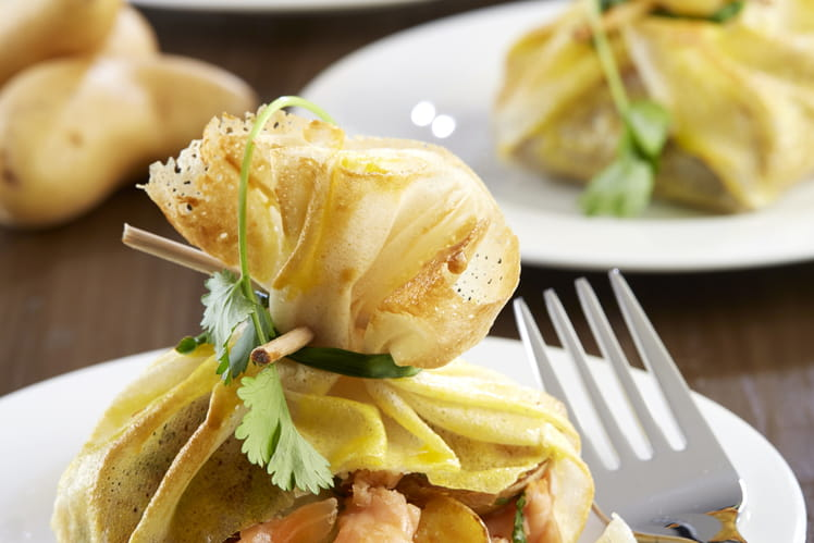 Recette aum ni re de ratte du touquet et saumon fum la coriandre la recette facile - Cuisiner la ratte du touquet ...
