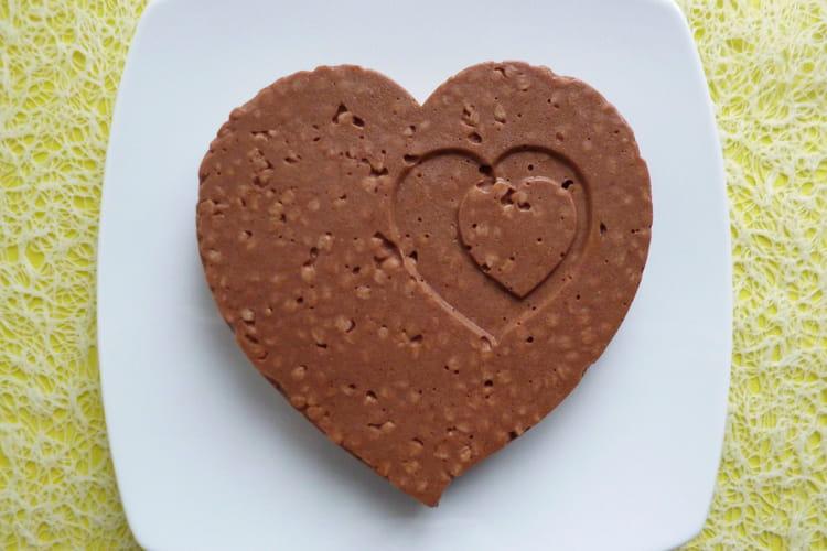 Gâteau coeur végan amande chocolat coco châtaigne