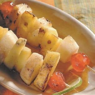 brochette de fruits au sirop d'érable