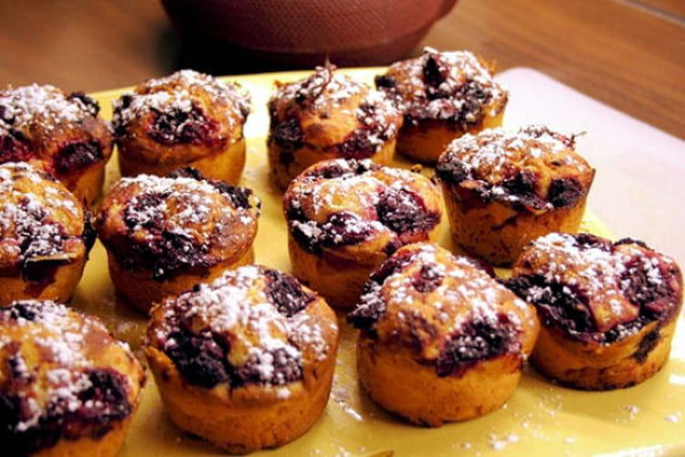 Muffins framboise-pomme
