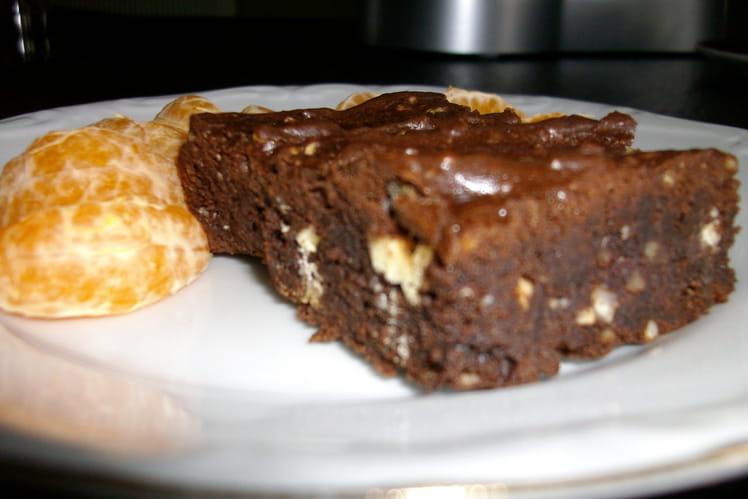 Brownie aux chocolats noir et blanc