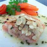saumon de printemps en ecailles d amandes100
