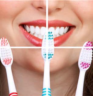 optez pour la brosse à dents à poils souples.