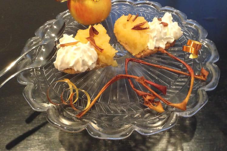 Sablés aux noisettes façon tartelette à la compote de pomme