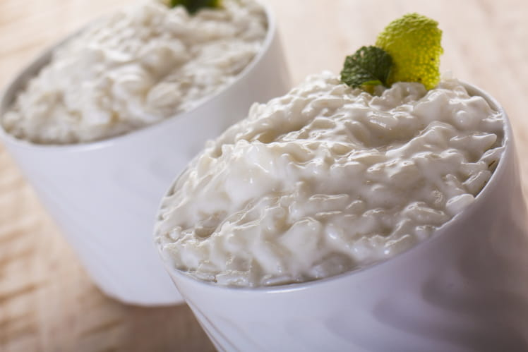 Riz au lait saveur vanille