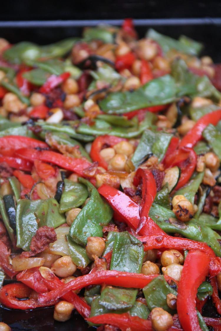 Recette de l gumes d 39 t l 39 espagnole la plancha for Legumes a la plancha