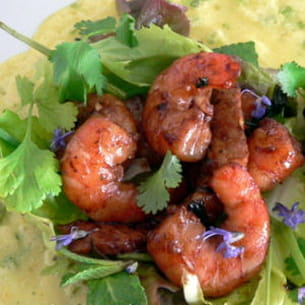 crêpe vietnamienne au porc et crevettes