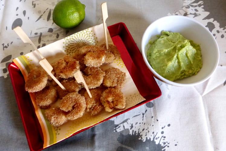 Crevettes panées au citron vert