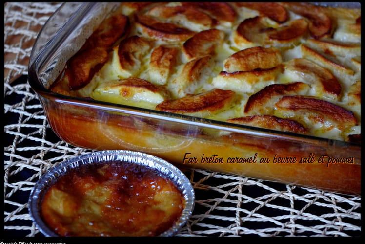 Far Breton caramel beurre salé et pommes