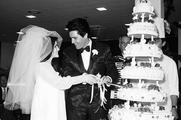 Elvis Presley et Priscilla Beaulieu en 1967