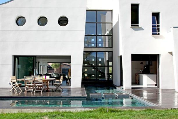 Maison en harmonie avec l'extérieur