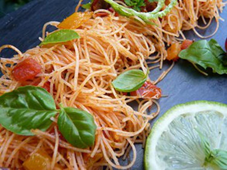 Recette de Vermicelle de riz à la provençale : la recette facile on