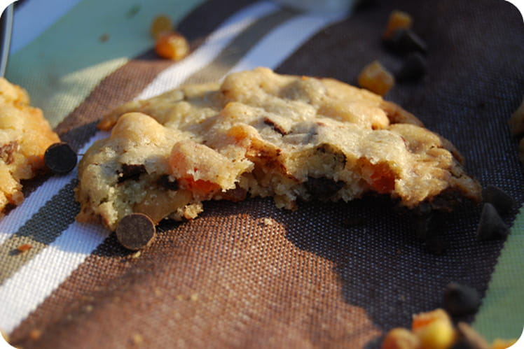 Cookies chocolat, abricot, cacahuètes