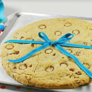 cookie géant noisette et kinder schokobon